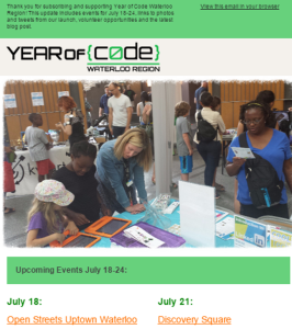 Year of Code News July 17 2015