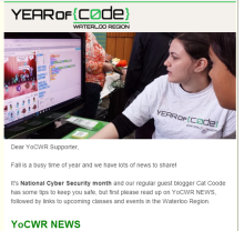 YoCWR October 2015 News