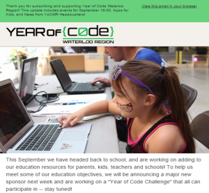 Year of Code News Sept 17 2015
